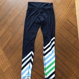 EUC Tory Sport striped leggings size XS